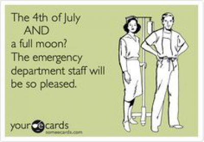 4th and full moon ER